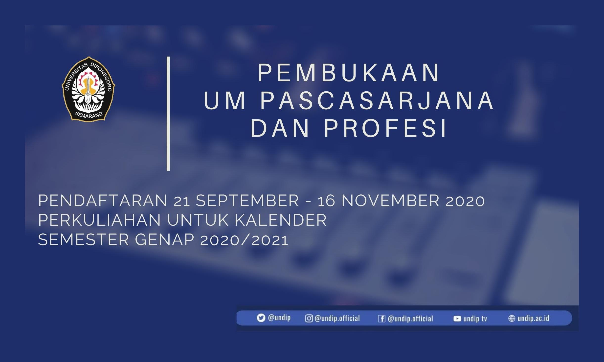 Magister Administrasi Bisnis Membuka Pendaftaran Mahasiswa Baru Gel. 1 Smt. Genap 2020/2021